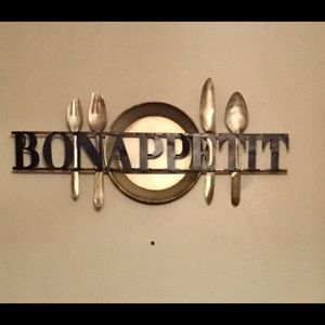 Bon appétit Metal wall art.